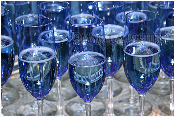 Glasses of Champagne as photographed by Tucson photographer Martha Lochert.