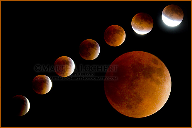 The Blood Moon - lunar eclipse September 27, 2015 photographed by Tucson photographer Martha Lochert.
